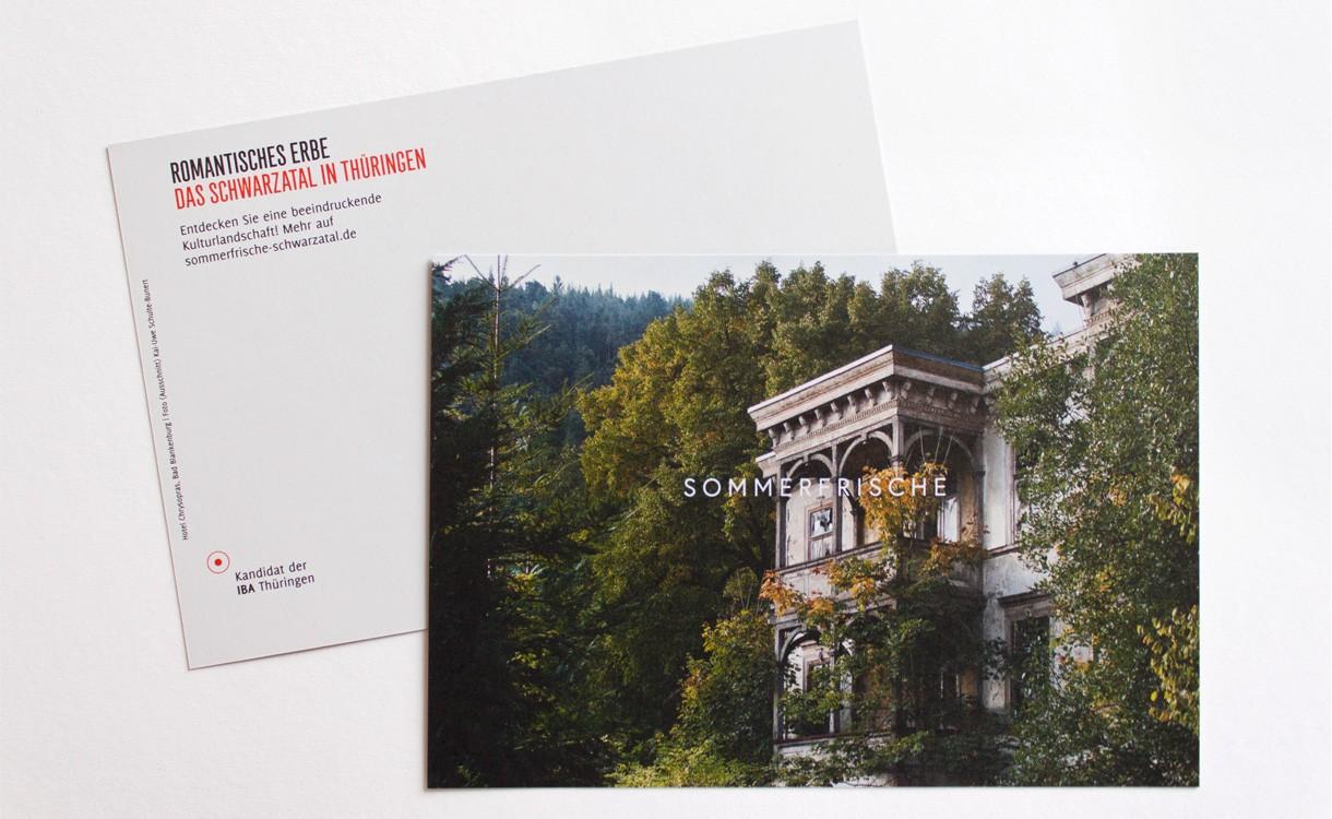 Sommerfrische Schwarzatal ·Postkarte