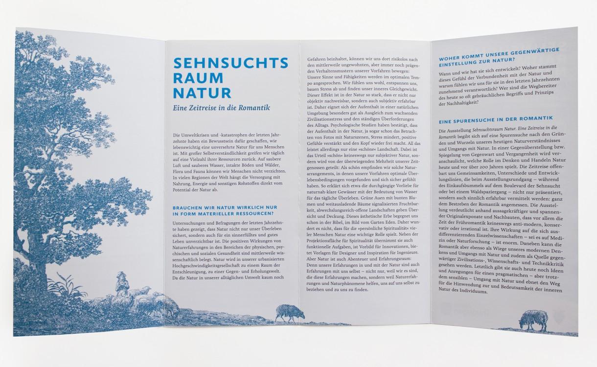 Sehnsuchtsraum Natur · Ausstellungsflyer