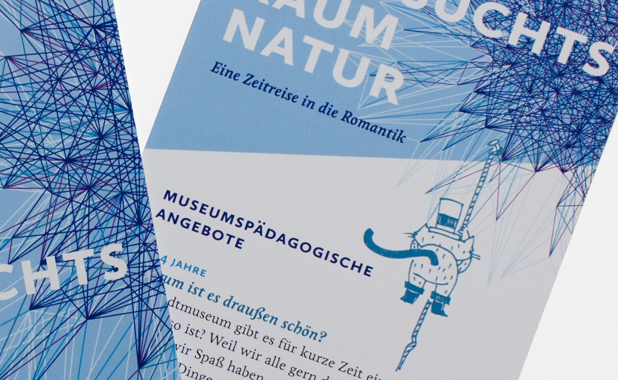 Sehnsuchtsraum Natur · Flyer für das Kinderprogramm