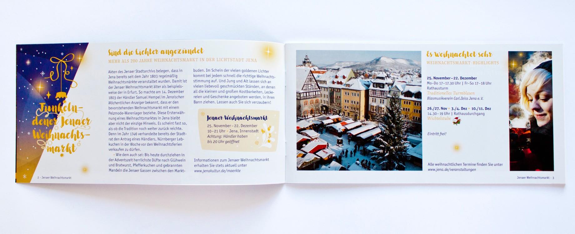 Jena weihnachtlich · Doppelseite