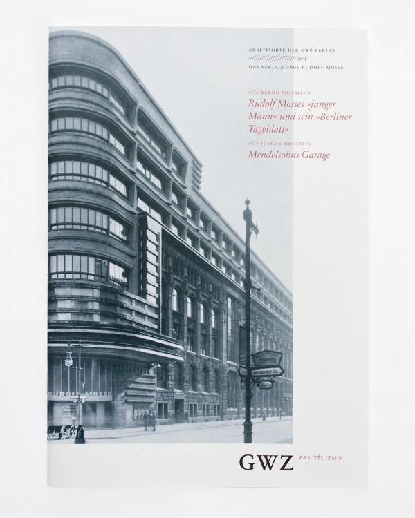 GWZ Berlin · Broschur über die Schützenstraße
