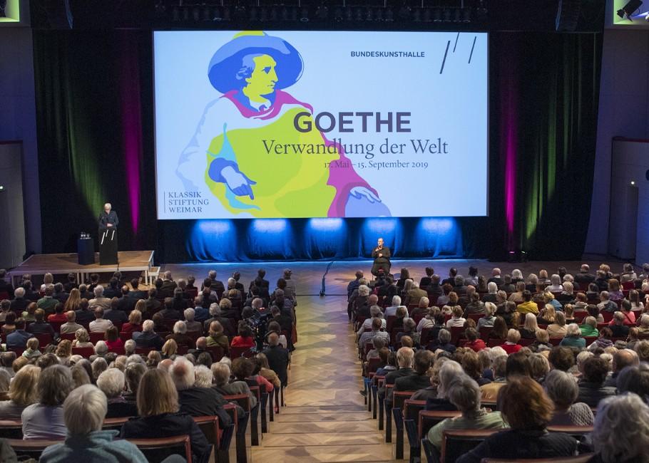 Eröffnung der Goethe-Ausstellung, Fotografie: © S. Vogel | Bundeskunsthalle Bonn