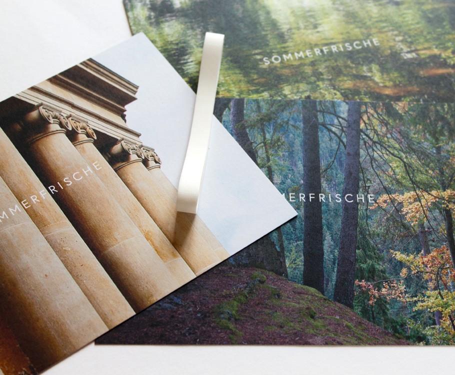Sommerfrische Schwarzatal · Postkarten mit Gummiband
