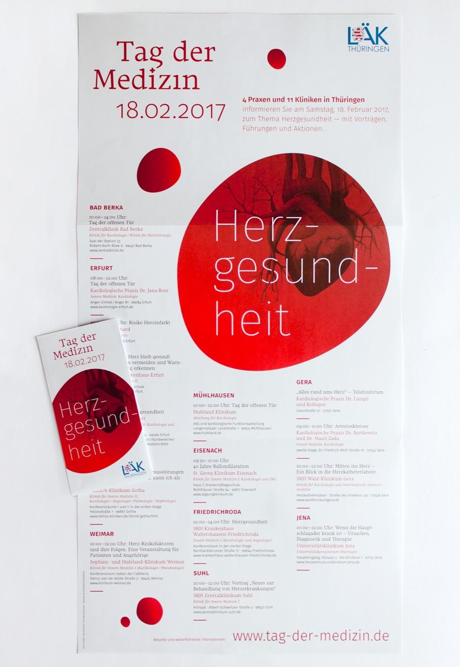 Tag der Medizin 2017 · Faltplakat und Flyer