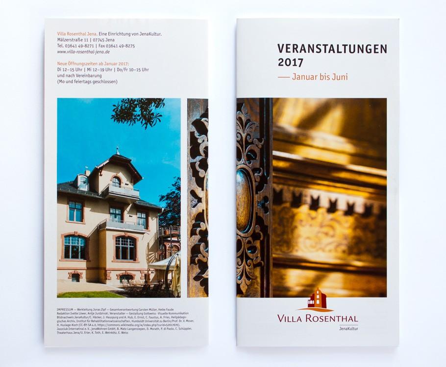 Villa Rosenthal Jena · Umschlag