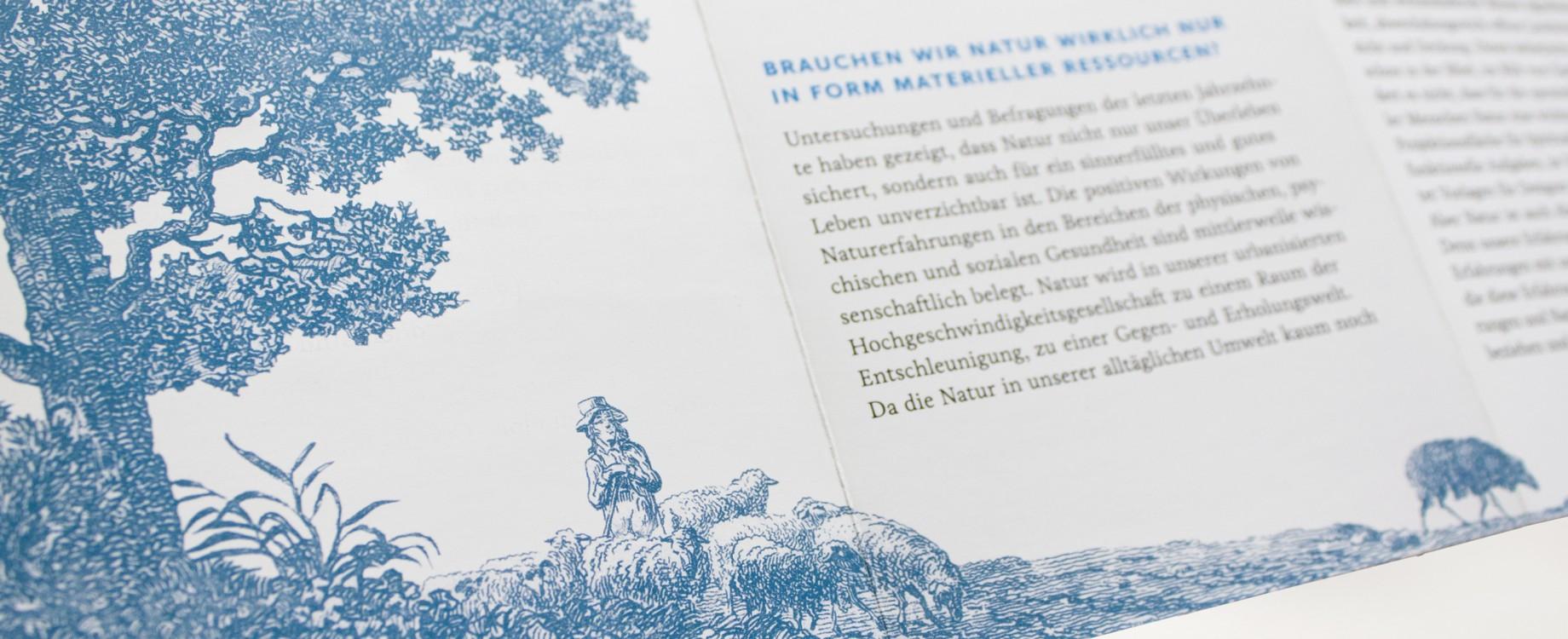 Sehnsuchtsraum Natur · Ausstellungsflyer (Detail)