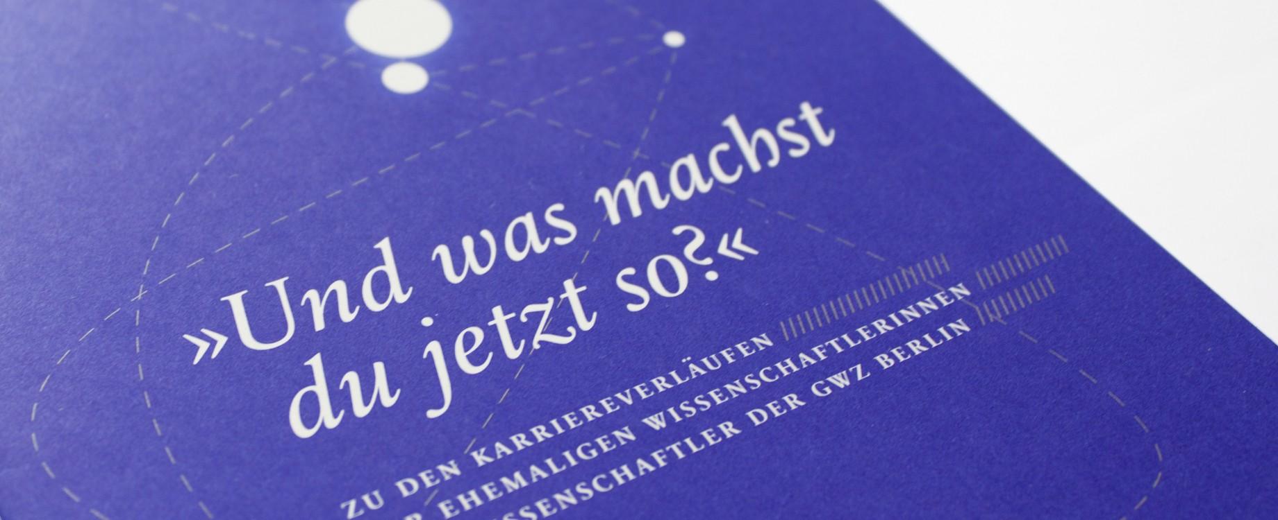 GWZ Berlin· Heft zum Werdegang ehemaliger GWZ-Mitarbeiter